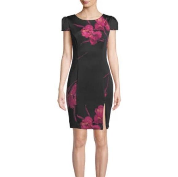 55f3d0d2e1da31 Betsey Johnson Dresses | Floral Print Midi Scuba Dress | Poshmark